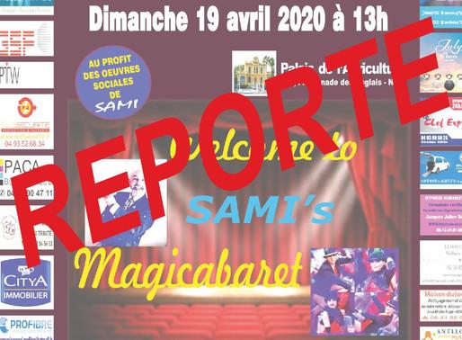 Cette manifestation est reportée : SAMI vous emmène au CABARET le 19/04/20
