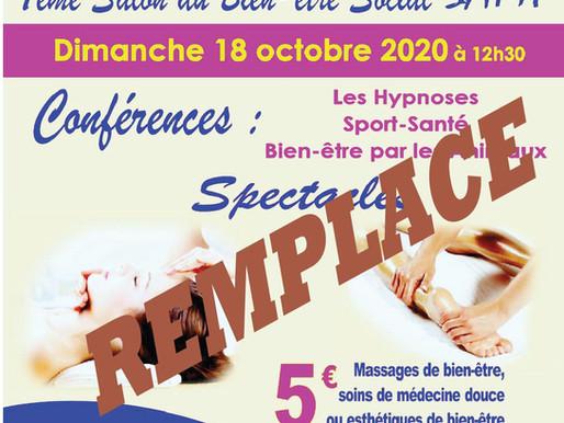 En raison de la propagation du COVID SAMI remplace son 7è Salon du Bien-être Social du 18 octobre 20