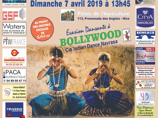 BOLLYWOOD à SAMI à l'occasion du  13è Colloque SAMI sur le Cancer et la Nutrition le 7/04/19 à 13h45