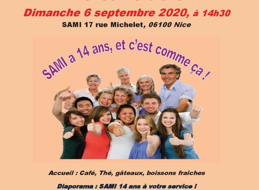 Anniversaire SAMI 14 ans et A. G. 2019, le 6 septembre 2020 au local SAMI à Nice