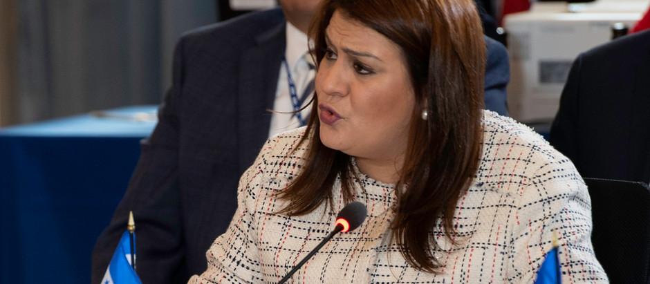 Canciller María Dolores Agüero participa en la 48 Asamblea General de la OEA