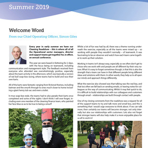 Our Axis Cleaning Newsletter - July 2019