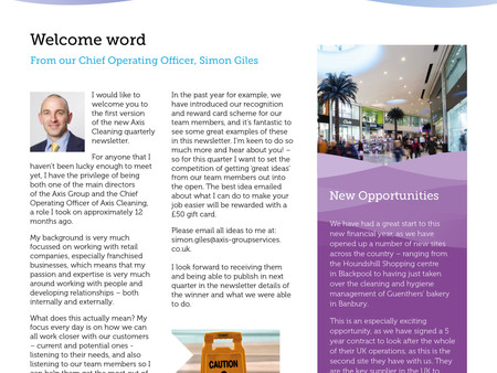 The latest Axis CSS Newsletter is out now!