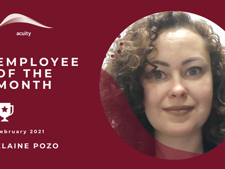 Employee of the Month - Elaine Pozo