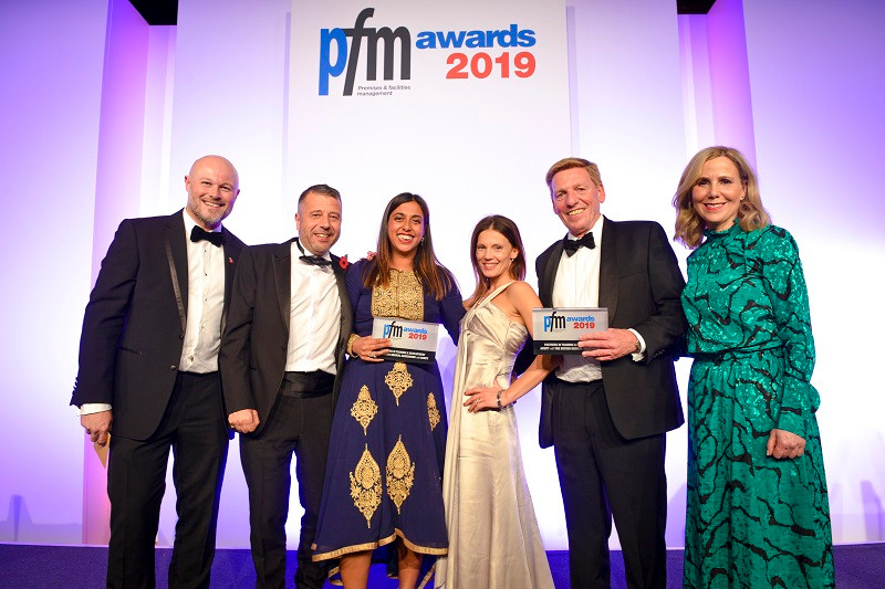 Chiara Di Rienzo and Neil Ames - Acuity Director, receive their PFM Partnership Award