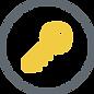 Key. Yellow with grey circle.png
