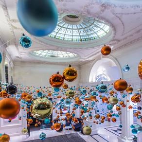 Festive installation by Elizabeth Marsh Floral Design