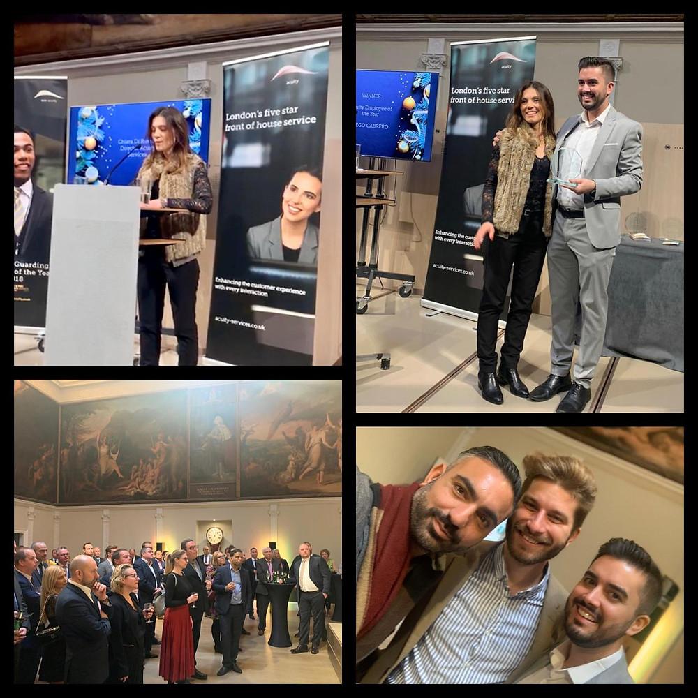 Acuity Employee of the Year Award went to Diego Cabrero Camara