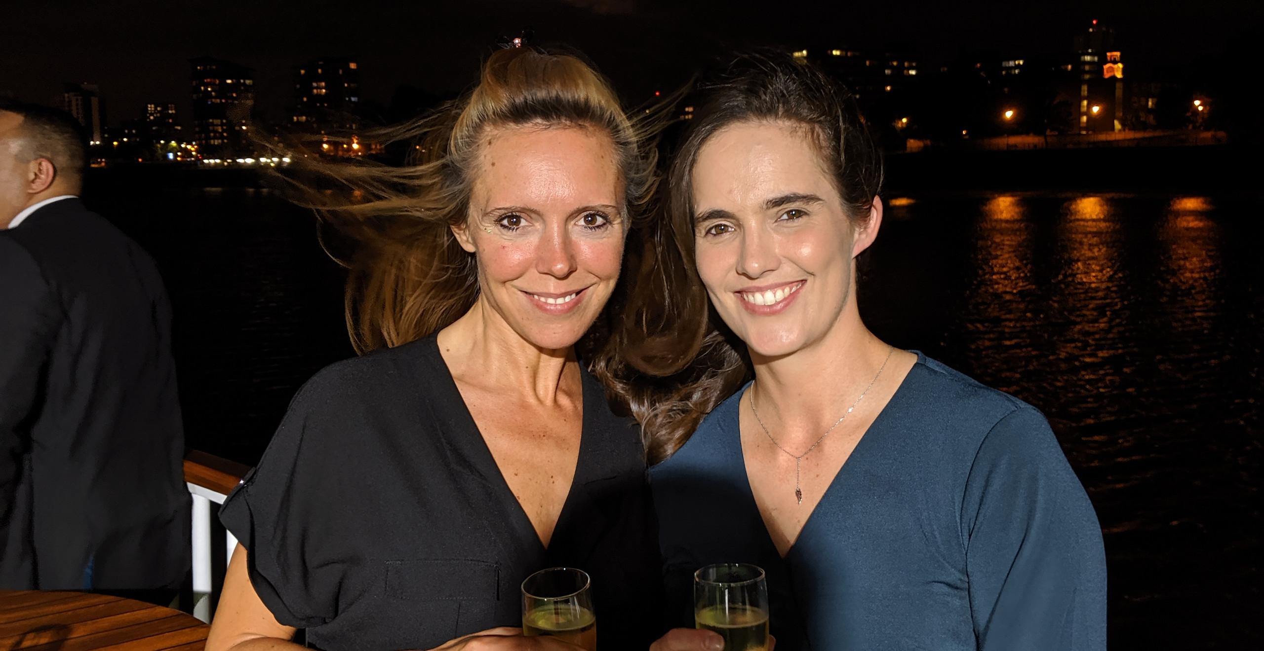 Iris Groenewald with partner Gemma Corby