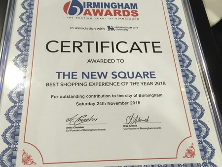 'The New Square' wins Birmingham Awards