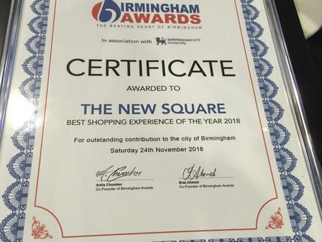 'The New Square' Shopping Centre wins Birmingham Awards