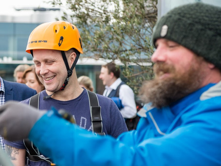 Braving Dizzying Heights for Charity
