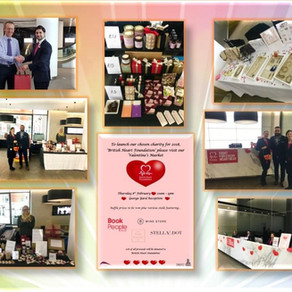 Valentine's market for the British Heart Foundation