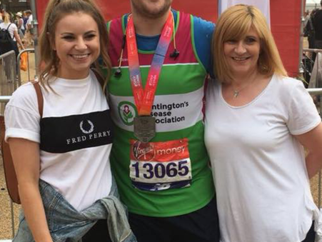 Chris's first London Marathon