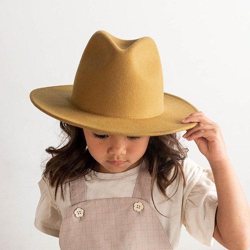 Wes Kids Fedora Mustard
