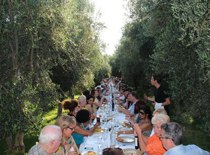 Outstanding in the Field: A Table in an Olive Grove