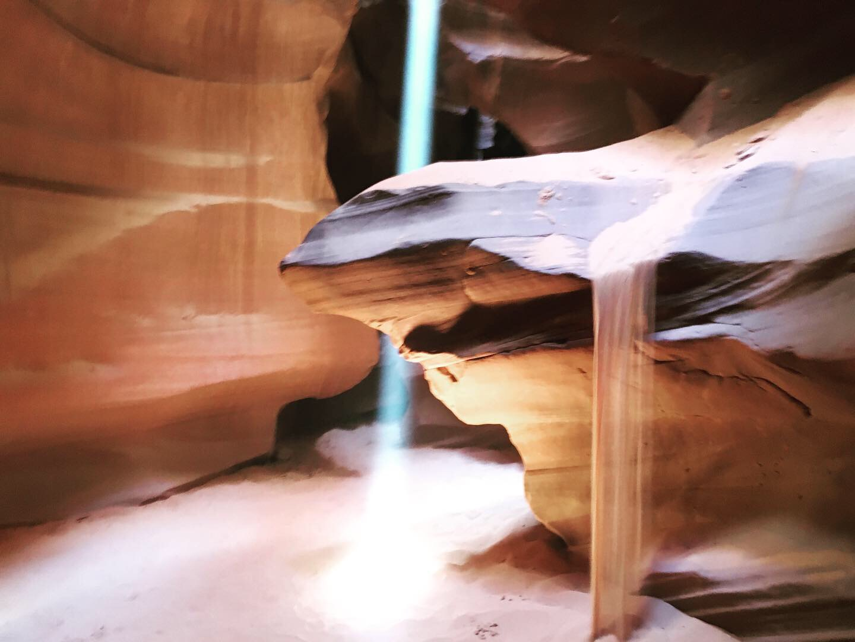 Light beam in Antelope Canyon, AZ