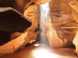 Sunlight beams in Antelope Canyon