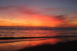 Beautiful sunset in Laguna Beach, CA