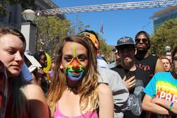 Young woman at gay pride festival in San Francisco, CA