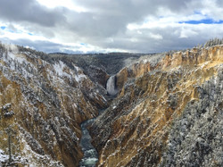 Yellowstone Waterfall from Artist Point.