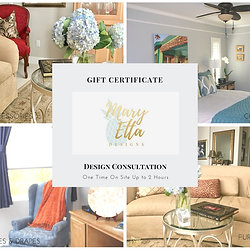 Gift Certificate For Initial Design Consultation