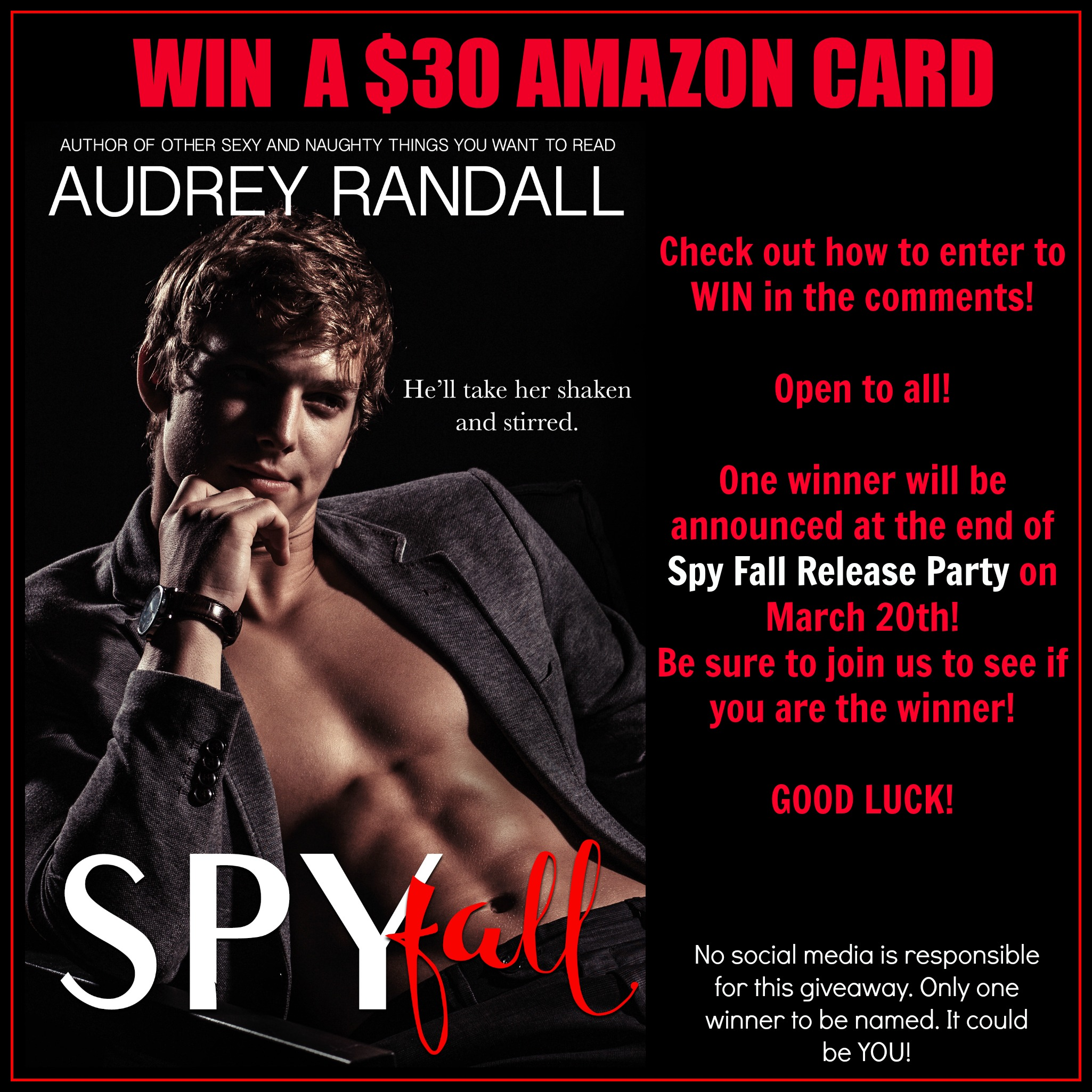 Audrey Randall Spy Fall Release Party Giveaway