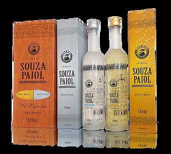 Pack contendo: 1 Garrafa com 500ml Série PRATA 1 Garrafa com 500ml Série ouro