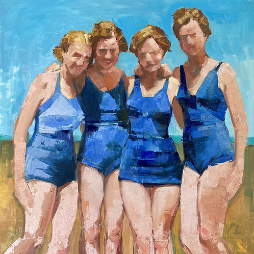 Blue Suits - matted print
