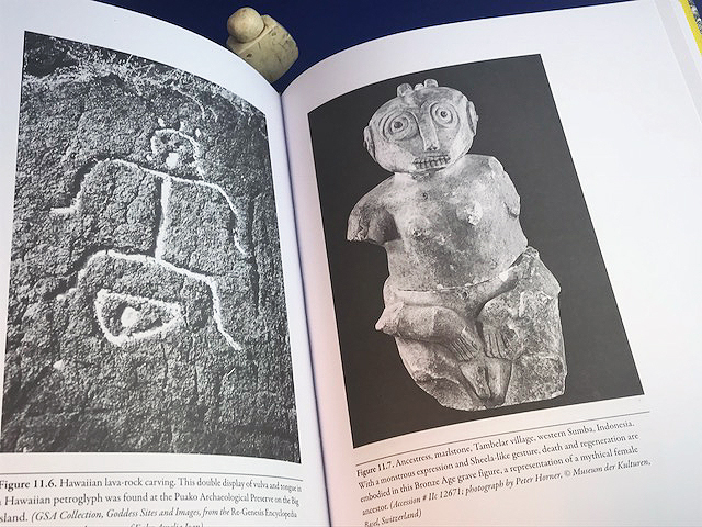 Hawaiian lava rock carving_Figure 11-6 and Ancestress Indonesia_figure 11-7 from Sheela-na-gig_The Dark Goddess of Sacred Power_Starr Goode