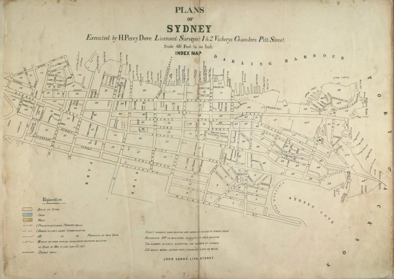 Plans of Sydney 1880 by H Percy Dove Surveyor