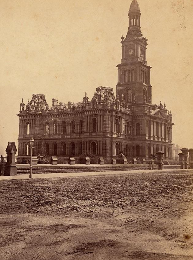 sydney town hall under construction