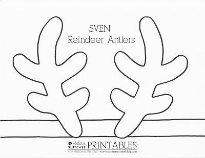"In case you'd like to make your own reindeer antlers. This set is from ""Frozen"" & founder at: http://indulgy.com/post/3AqcXIGsr2/frozen-elsa-crown-sven-reindeer-antler-templates"