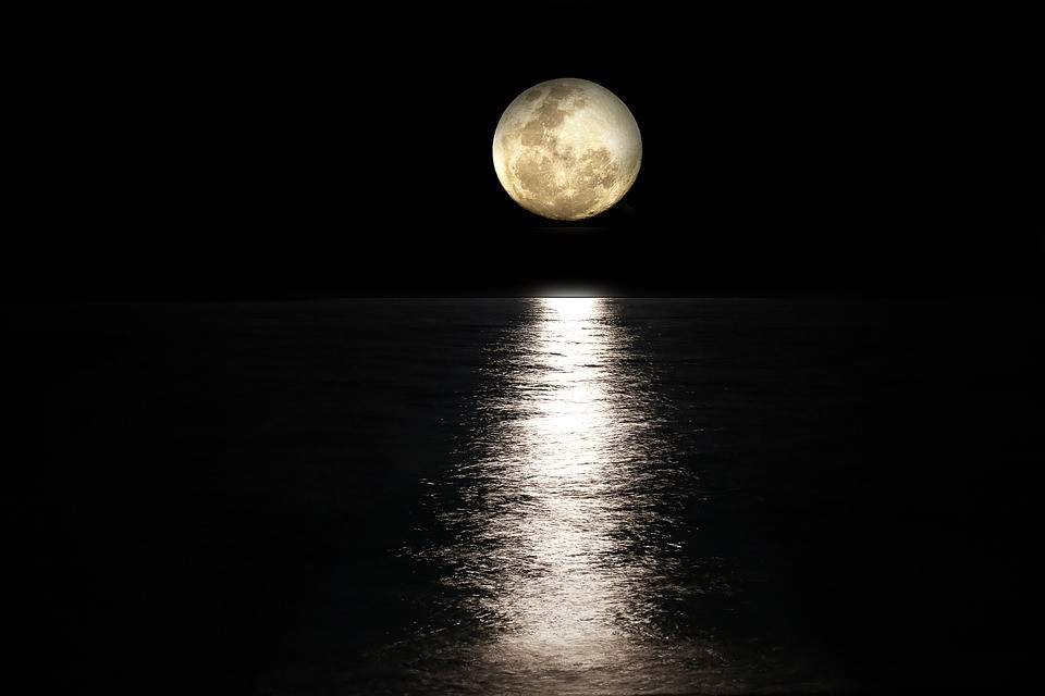Moon over water image sourced from pixabay.com
