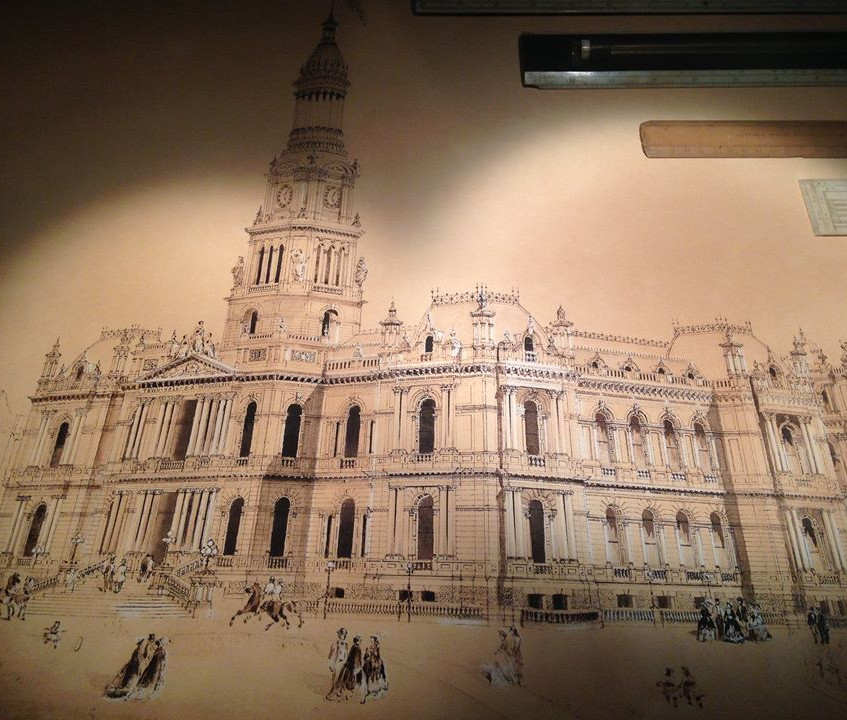 Town Hall Sydney drawing