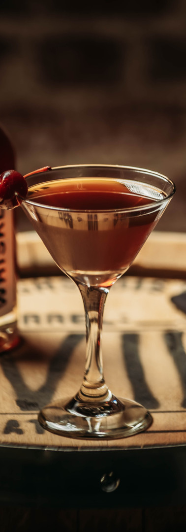 Cocktail Name: Black Cherry Manhattan