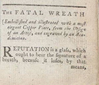 fatal wreath title and engraving info