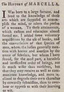 Marcella March 1771 Vol I
