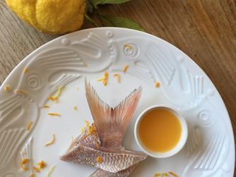 Fish Carpaccio with Amalfi Coast Orange Dressing