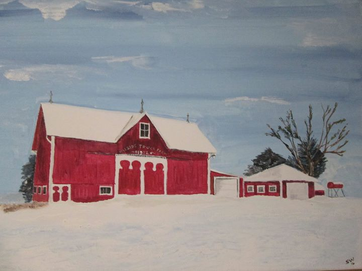 Well it's finished.  This barn is in Ayersville