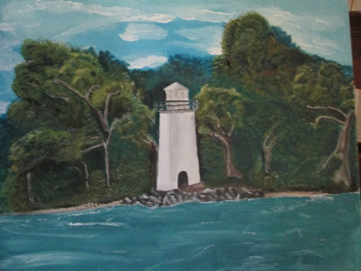 I saw this lighthouse last year down at Put-in-Bay and decided to paint it