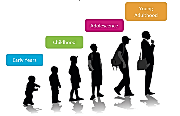 Early Years to Childhood to Adolescence to Young Adulthood image