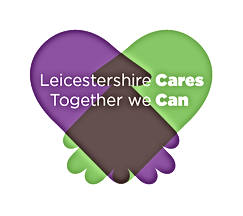 Leicestershire Cares Logo.  Together we Can