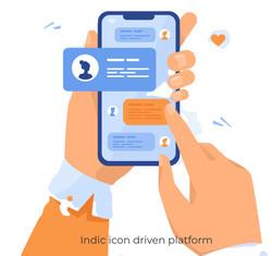 Indic icon driven platform