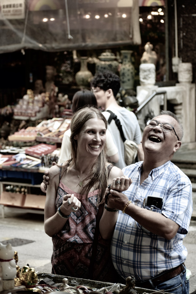 Pure joy - Cat Street Market, Hong Kong