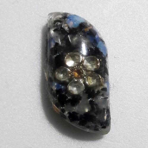 Orgonite Pingente Pequeno - Opalina e Turmalina Negra