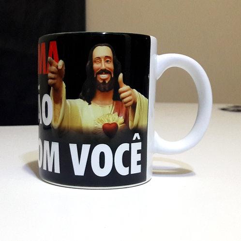 Caneca Jesus te ama porque não convive com você - 325ml