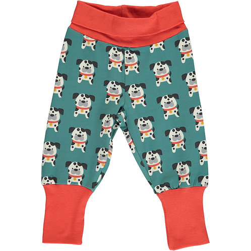 MAXOMORRA Pants Rib Dalmatian Buddy