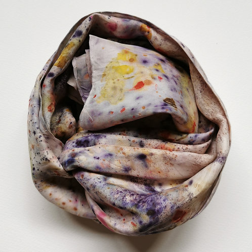 Bundle Dyed Silk Twill Scarf