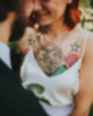 Tattooed alt bride in halifax